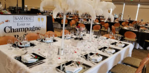 Table setup at a Happy Day Catering Event