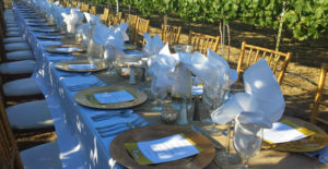 Outdoor wedding reception by Happy Day Catering