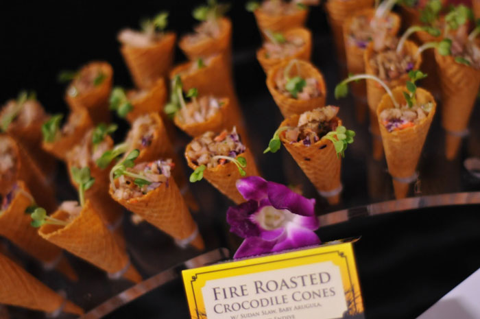 fire roasted crocodile cones