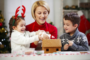 Gingerbread House Making Workshop at Holiday Party