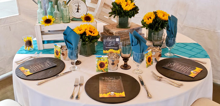 Turquoise Wedding Decor Theme