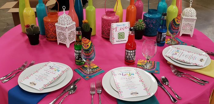 Brights Wedding Decor Trend with Mexican Lanterns