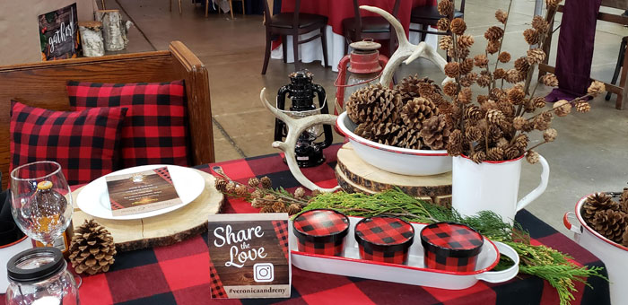 Buffalo Plaid Wedding Decor
