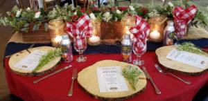 Buffalo Plaid Table Setting