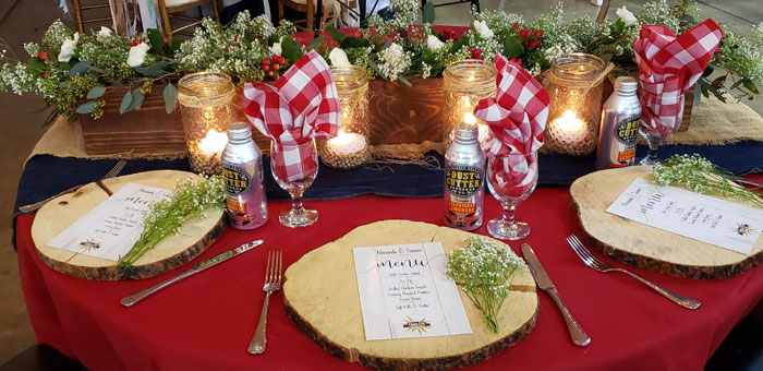 Buffalo Plaid Table Setting