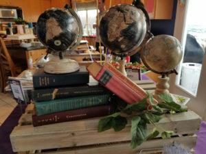 Book Decor for Open House Graduation Party