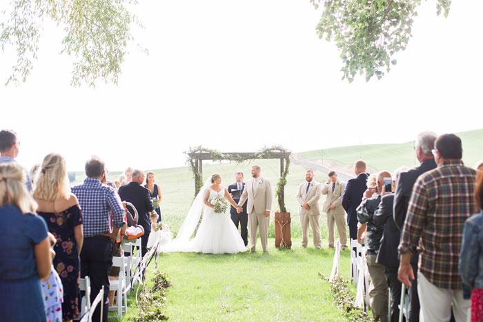 April and Brett's Rustic Romantic Wedding at The Barn at Mader Farm