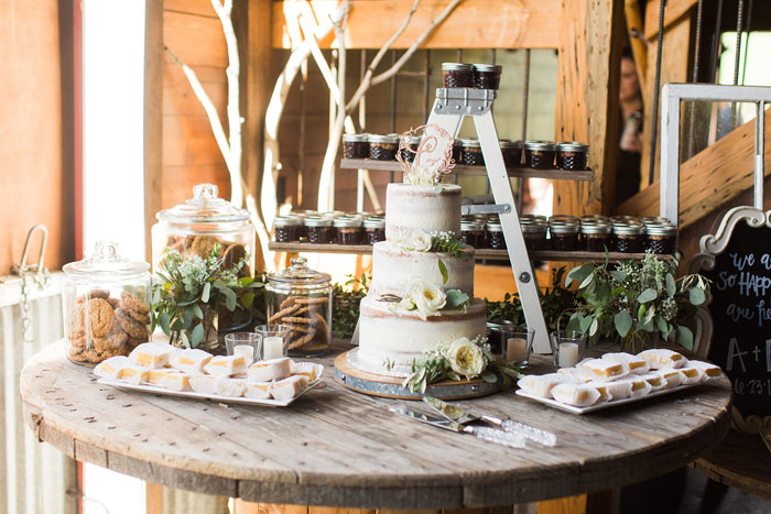 Beautiful Wedding Dessert Station